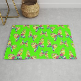 Insect Butterfly Pattern Cool Birthday Gift Rug
