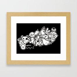 Kawaii Ink Framed Art Print