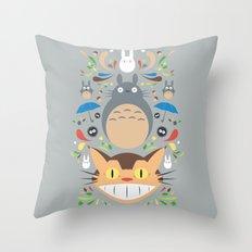 Neighborhood Friends Throw Pillow