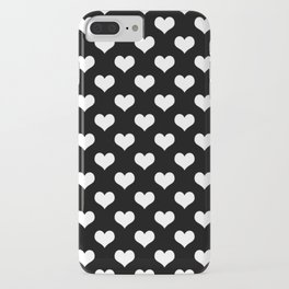 Black And White Hearts Minimalist iPhone Case