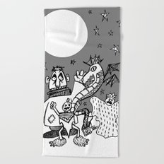 They Only Come Out At Night Beach Towel