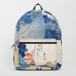 Evening View Of Mt Fuji By Utagawa Kuniyoshi Backpack