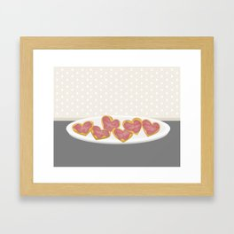 Independent donut hearts Framed Art Print