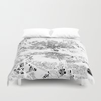 stockholm Duvet Covers featuring STOCKHOLM by Maps Factory