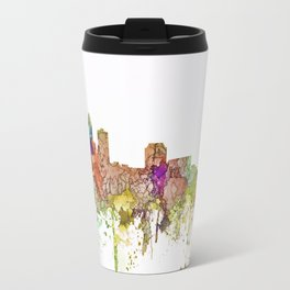Des Moines, Iowa Skyline - Faded Glory Travel Mug