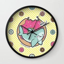 Nom Nom Donuts Wall Clock