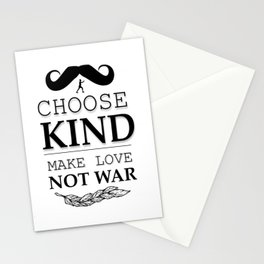 shirt choose kind, make LOVE NO WAR Stationery Cards