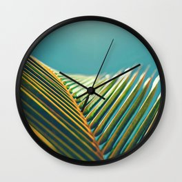 Palm Leaves in the Sun Wall Clock