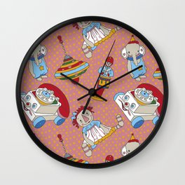 Old Toys Wall Clock