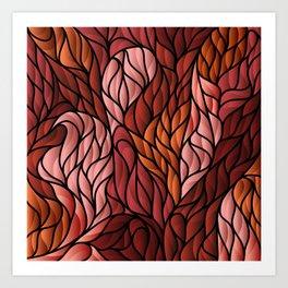 Society6 Foxy Orange Background Art Print