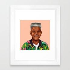 Hipstory - Nelson Mandela Framed Art Print