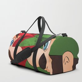 Mario vs Luigi Duffle Bag