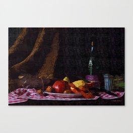 Peeling Apples Canvas Print