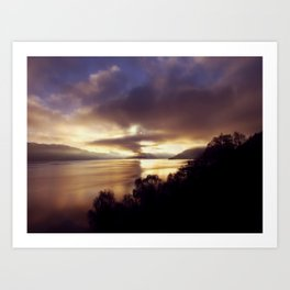 Loch Ness Sunset Art Print