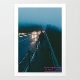 The Long Road Art Print