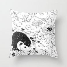 Woodland critters (uncoloured) Throw Pillow