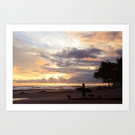 Sunset for a Soul Surfer Art Print