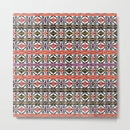Ethnic striped pattern. Metal Print