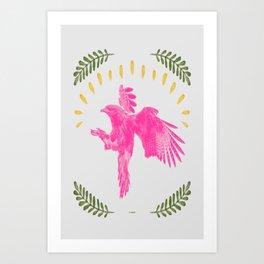 Pink Falcon Art Print