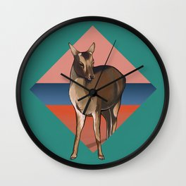 Miyajima Deer Wall Clock