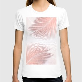 Palm leaf synchronicity - rose gold T-shirt