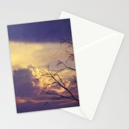 Winter Day's End Stationery Cards