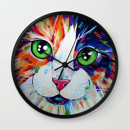Cats in Colour 3 Wall Clock