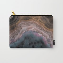 Multi colored agate slice Carry-All Pouch