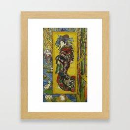 Courtesan by Vincent van Gogh, 1887 Framed Art Print