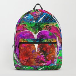 Colorful Pop Hearts Love Art By Sharon Cummings Backpack