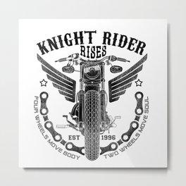 Biker Rider - Ride OR Die - Biker saying quote Metal Print
