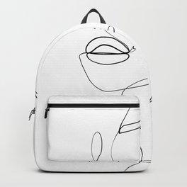 line art beauty mark Backpack