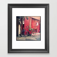 Red Bike  Framed Art Print