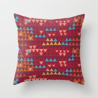indian Throw Pillows featuring indian by spinL