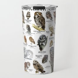 Owls of North America Travel Mug