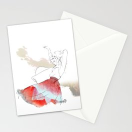 Dancing in the poppies Stationery Cards