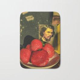 Sweet strawberries Bath Mat