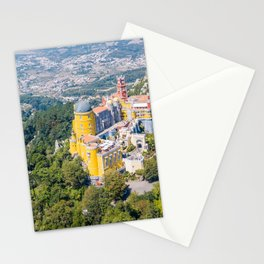 Aerial View Of Pena Palace In Sintra, Portugal, Aerial Drone Photography, Printable Wall Art Poster Stationery Cards