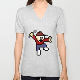 8-Bit Audio Master Unisex V-Neck
