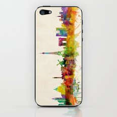Paris Skyline Watercolor iPhone & iPod Skin