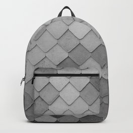 Fifty Gray Shades of Tiles (Black and White) Backpack