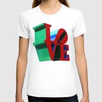 philadelphia T-shirts featuring Love Philadelphia by PandaTheGreat