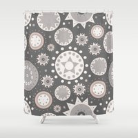 milky way Shower Curtains featuring Milky Way by Moon Rabbit Design