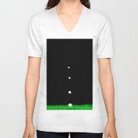 golf V-neck T-shirts featuring golf by Francesco Mestria