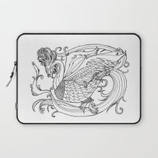 Simurgh from the Bestiary Coloring Book Laptop Sleeve
