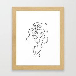 Blind Face Framed Art Print