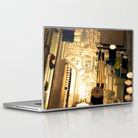 technology Laptop & iPad Skins featuring Sunset Technology by Encore Designs
