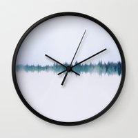 serenity Wall Clocks featuring Serenity  by Hannah Kemp