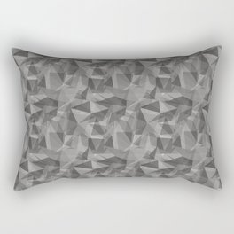 Abstract Geometrical Triangle Patterns 3 Benjamin Moore 2019 Trending Color Cinder Dark Gray AF-705 Rectangular Pillow