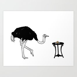 Ostriches Like Sugar Brioche Art Print